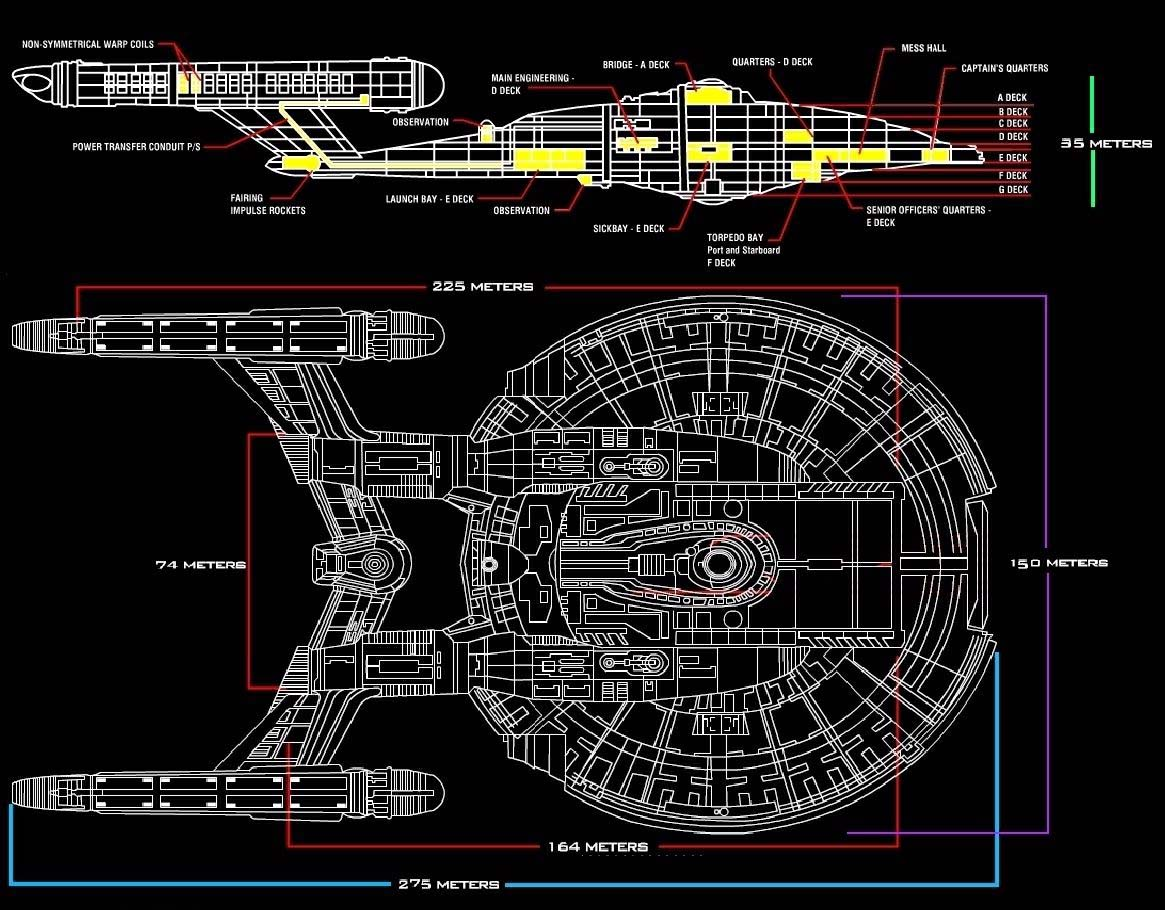 Deckplan Enterprise NX-01 on